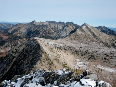 Mt Bigelow, Corax Peak, and Martin Peak