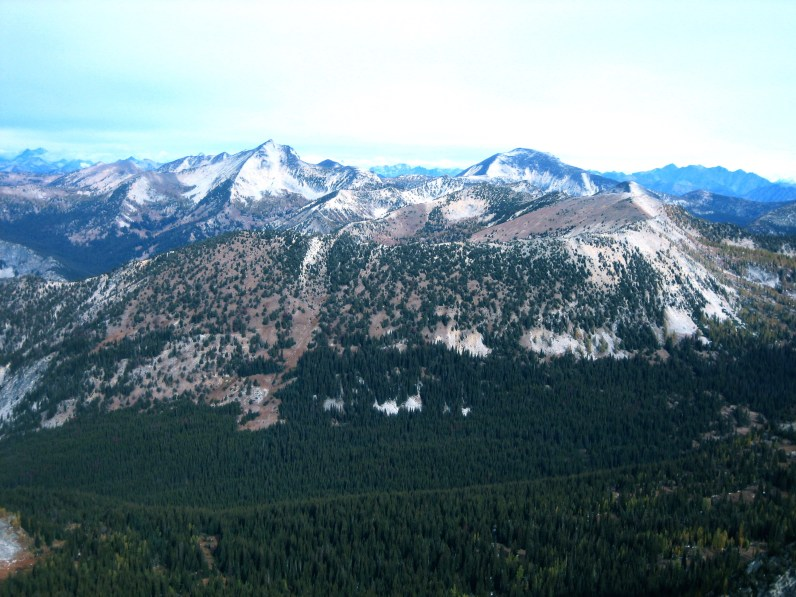 Star Peak and Oval Peak From Switchback Peak