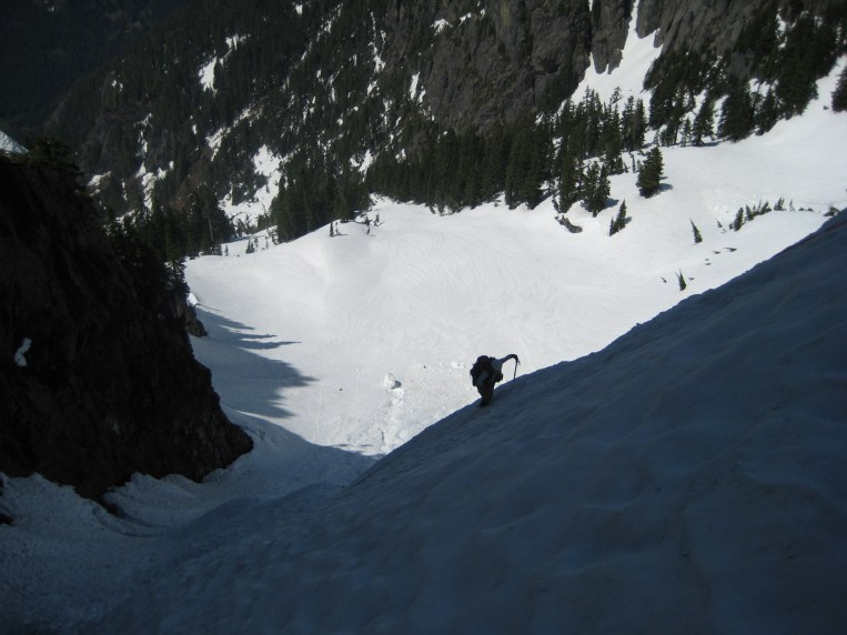 Mike Climbing To Upper Breach
