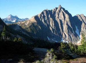 Morning Sun On Black Peak and Mt Hardy