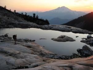 Mount Baker sunset from Upper Blum Lake