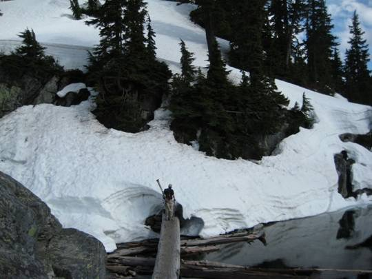 Snow Lake Outlet Crossing