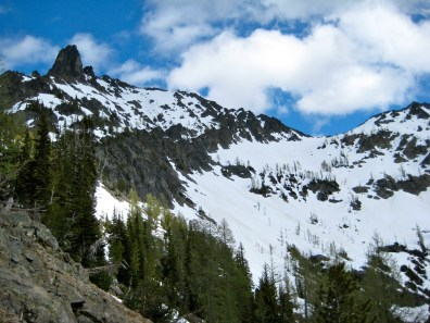 Main Riddle Peak From Tenmile Pass