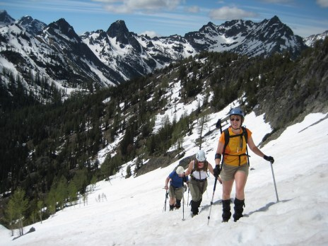 Group Climbing Main Riddle Peak