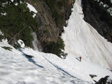 Climbing Out Of Lower Snow Chute