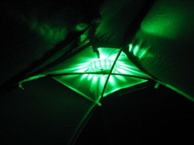 Tent Light Inside