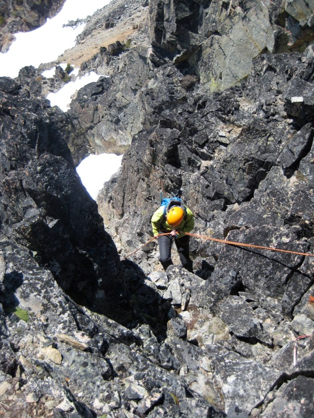 Rappeling Off WyEast Mountain
