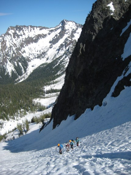 Climbing Out Of Fourth Of July Basin