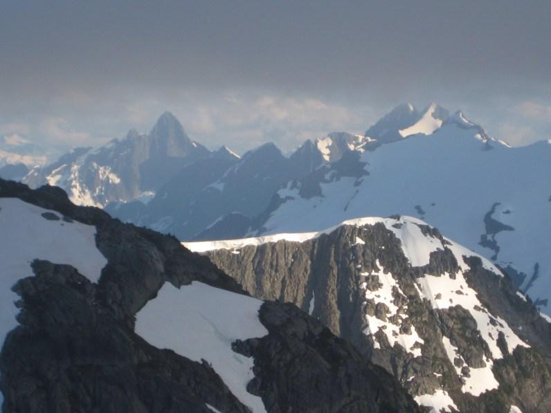 Mt Triumph and Mt Despair From Whatcom Peak