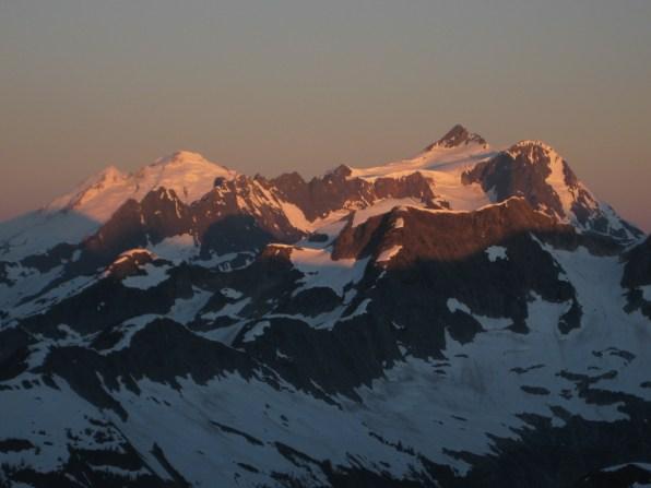 Sunrise On Mt Baker and Mt Shuksan