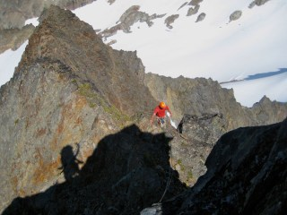 Belaying From False Summit