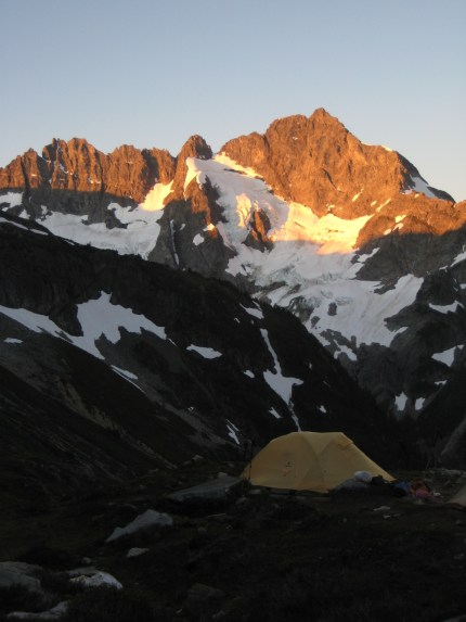 Mt Formidable Alpenglow From Camp