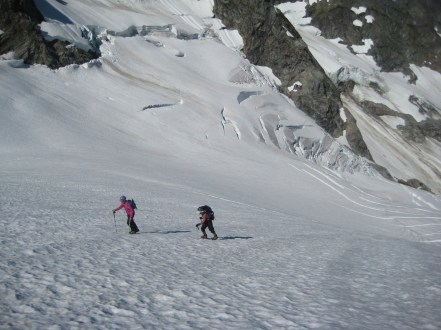 Morning Crampons On Middle Cascade Glacier