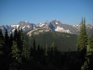 Chilliwack Mountains From Galene Lakes Ridge