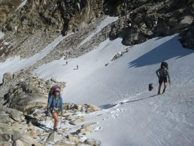 Climbing Up To High Pass