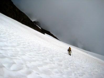 Fay Traversing Snow Basin
