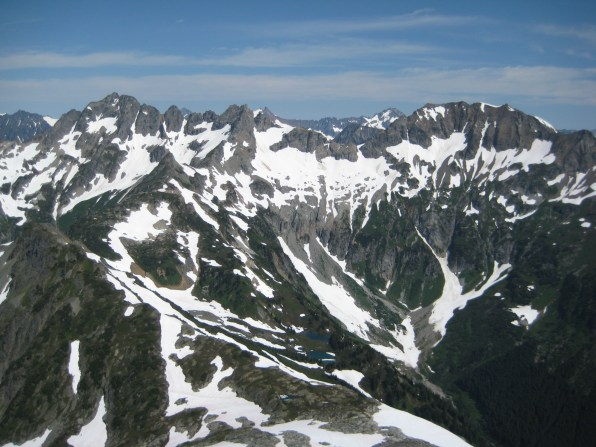 Mt Formidable & Spider Mtn From LeConte Mtn