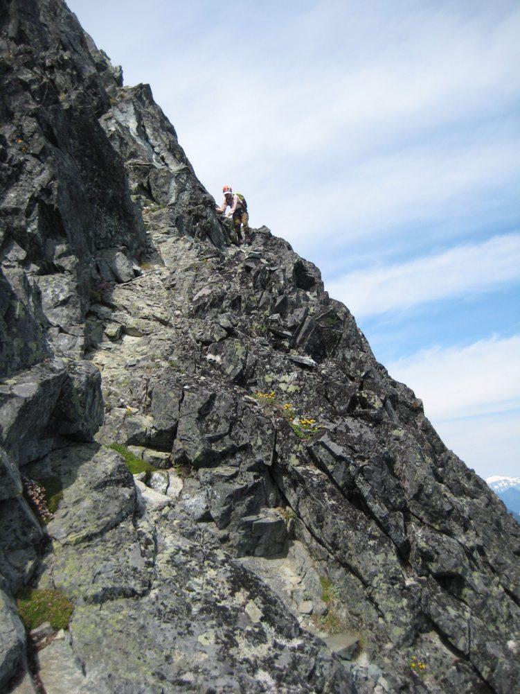 Descending Key Ramp On Le Conte Mtn
