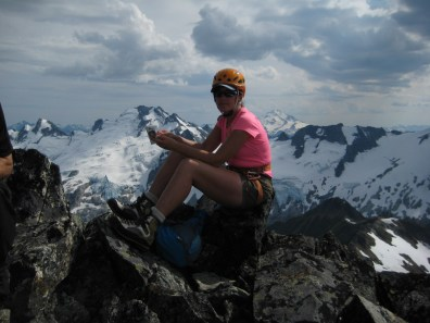 Eileen On Old Guard Peak Summit