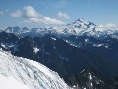 Glacier Peak From Camp 4 At Dana-Dome Saddle