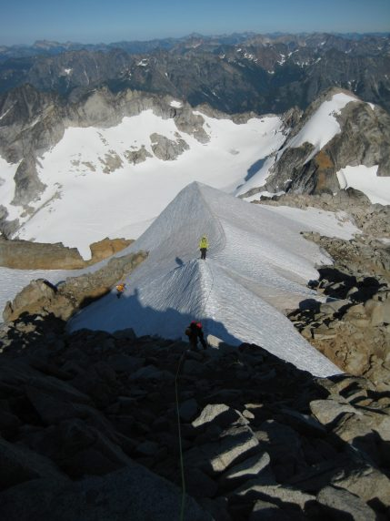 Climbing High On Dome Peak