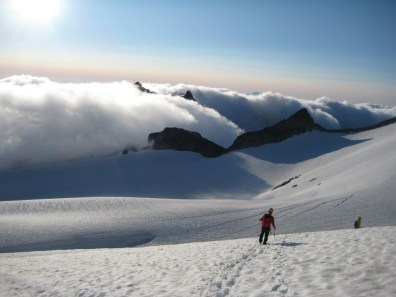 Descending Upper Dome Glacier