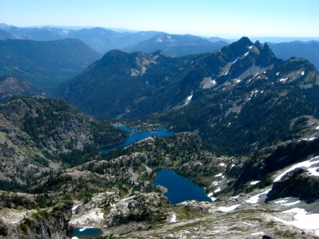 Glacier Lake, Spectacle Lake, and Three Queens