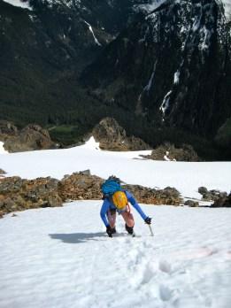 Eileen Climbing Final Snowfield