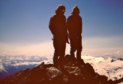 Craig and Chip On Clark Mountain Summit In June 1979