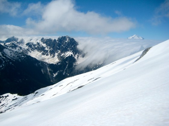 Bannock Mountain, Glacier Peak, and Fog Bank