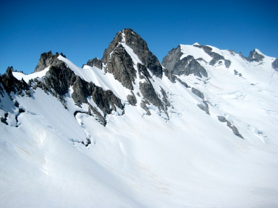 Sinister Peak and Dome Peak From Gunsight Col