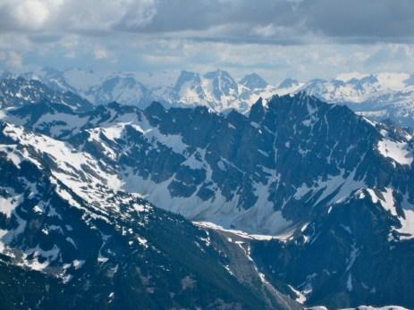 Tenpeak Mountain and Bannock Mountain From Agnes Mountain