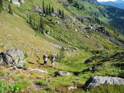 Hiking Up Sheepherder Trail To Grace Lakes