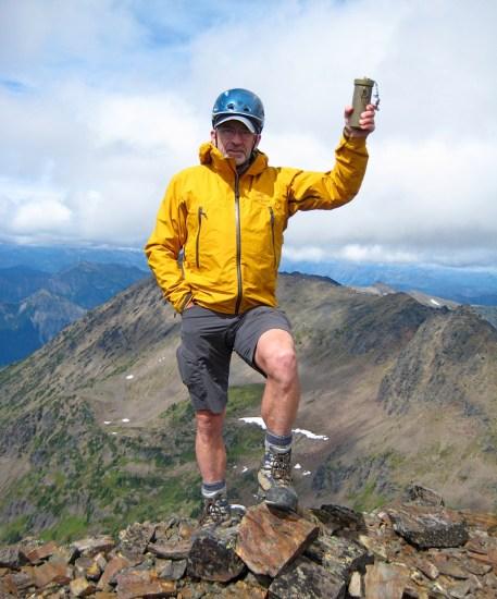 Jim On Snowgrass Mountain Summit