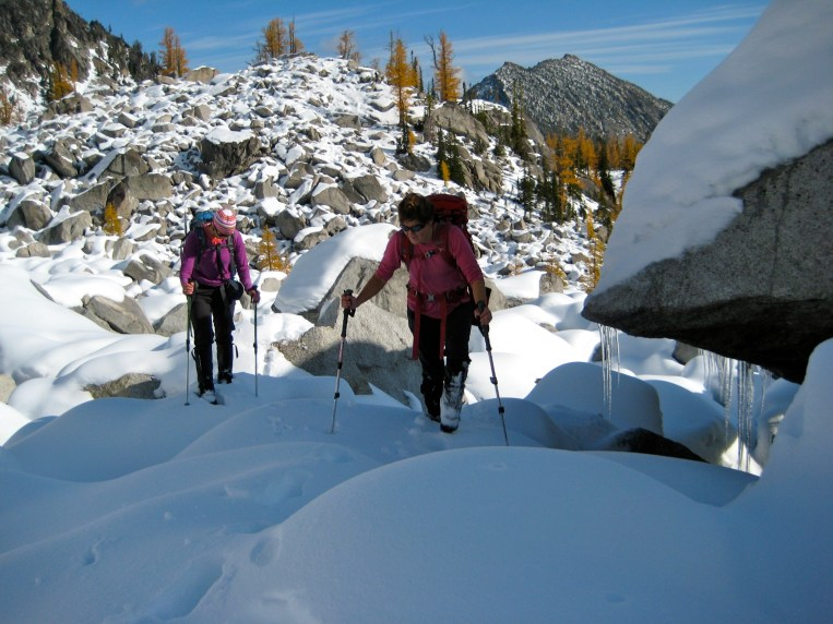 Keely and Lisa In Boulder Field