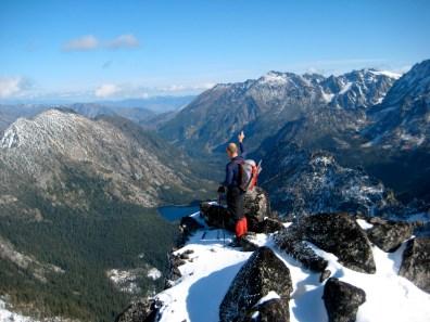 Kevin Waving On Summit Of Jackaroo Peak