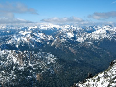 Mount Daniel From Jackaroo Peak