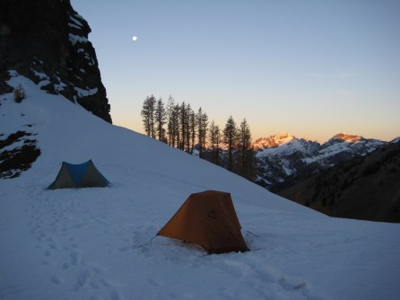 Moon Over Box Creek Pass Camp