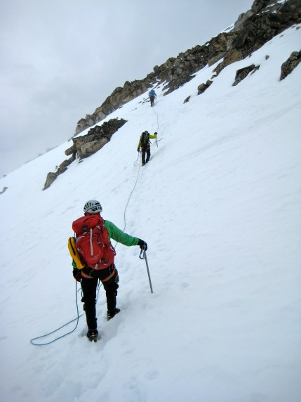 Starting Up Summit Snowfield