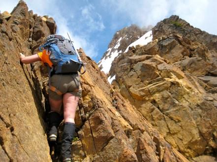 Climbing On Middle Ridge