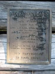 Necklace Cabin Plaque