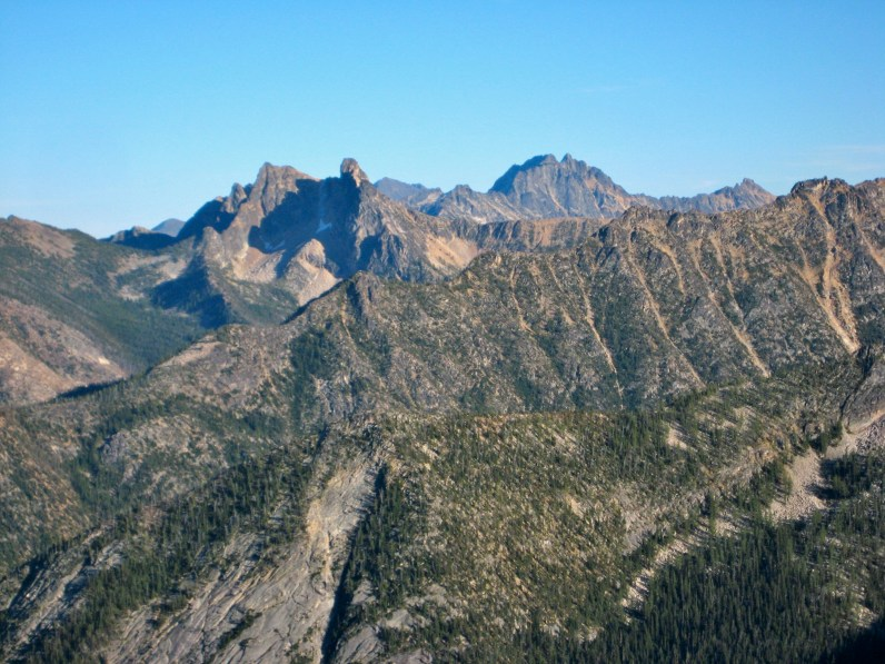 Methow Needles and Silver Star Mountain From Azurite Peak