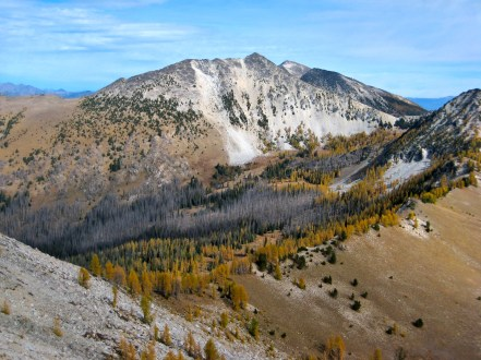 Courtney Peak and Oval Peak From Baldy Mountain