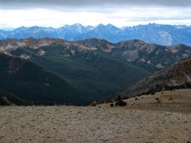 Cardinal Peak, Emerald Peak, Saska Peak, and Pinnacle Mountain From Gray Peak