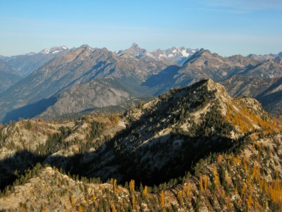 McGregor Mountain, Mt Goode, and Mt Logan From Boulder Butte