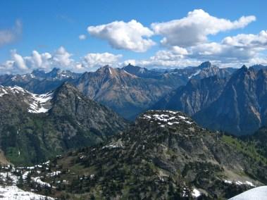 Mount Ballard To Tower Mountain Pano