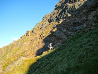 Climbing Up To Start Of South Ledge