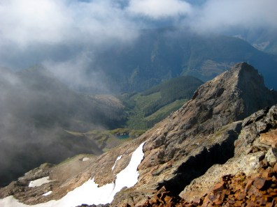 Looking Down South Ridge From Summit