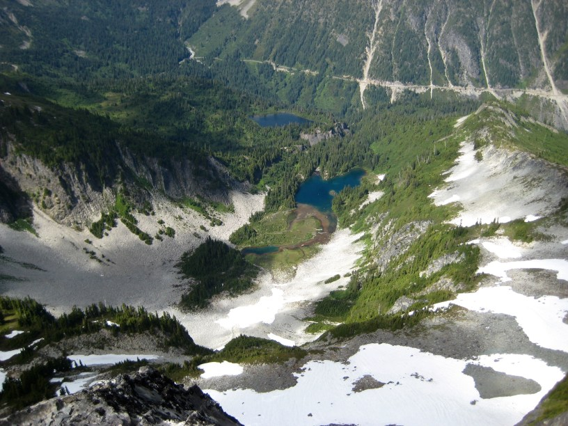 Snow Lake and Bench Lake From Unicorn Horn