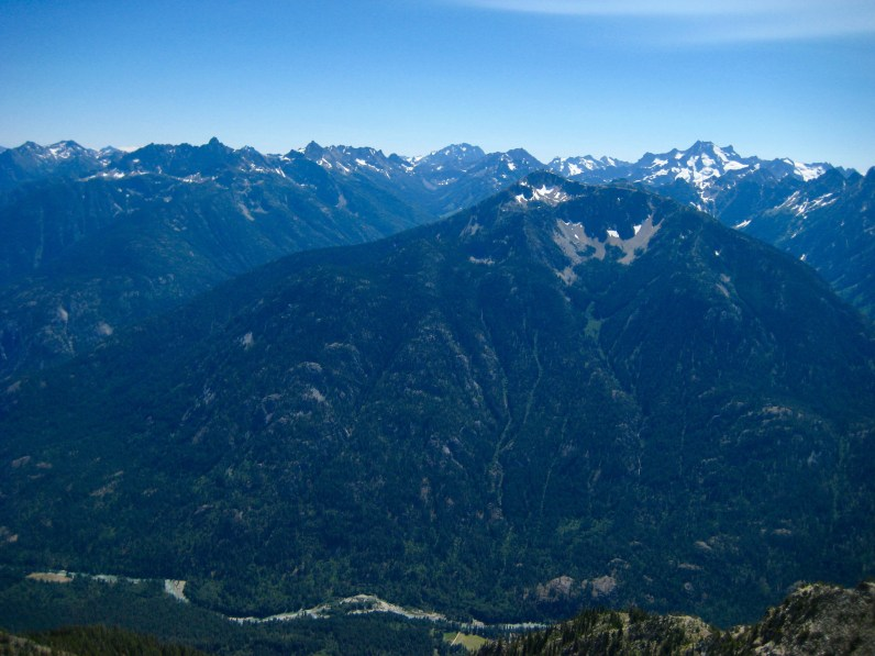 Stehekin Mountains From 7600 Foot Saddle